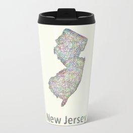 New Jersey map Travel Mug