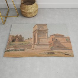 The Arch of Titus in Rome 1839 Rug