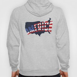 4th Of July Independence Day American Flag & Map Hoody