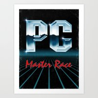 PC Master Race 80s Art Print