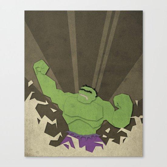 Paper Heroes - Hulk2 Canvas Print