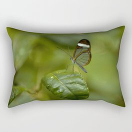 Transparent butterfly Rectangular Pillow