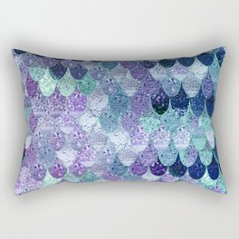 SUMMER MERMAID  Purple & Mint by Monika Strigel Rectangular Pillow