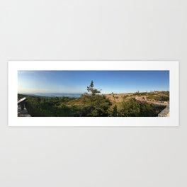 Cadillac Mountain Summit, Acadia National Park Art Print