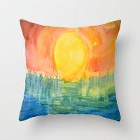 hindu Throw Pillows featuring Hindu Creation by Brusling