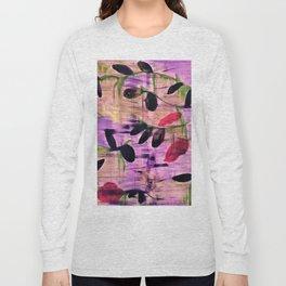 Purple Garden. Purple, Vines, Garden, Flowers, Green, Abstract, Jodilynpaintings Long Sleeve T-shirt