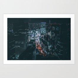 Big city lights Art Print