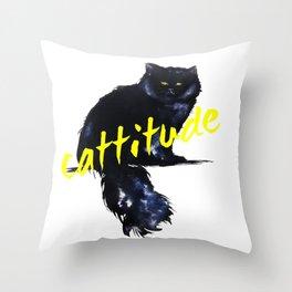 Cattitude _ swag Throw Pillow