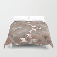 reassurance Duvet Covers featuring Wood print III by Magdalena Hristova