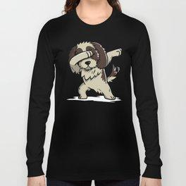 Dabbing Shih Tzu Dog Dab Dance Long Sleeve T-shirt