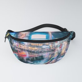 Rainy Night at Shibuyacrossing - throught the window Fanny Pack