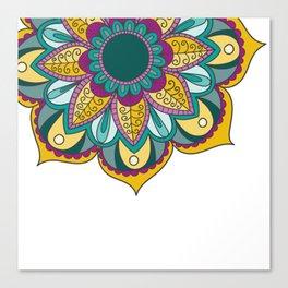 Mandala Series - Sunflower Canvas Print