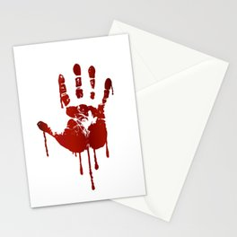 Bloody halloween hand Stationery Cards