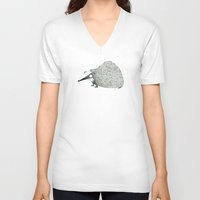 badger V-neck T-shirts featuring Badger by rhian wright