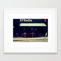 cafe Framed Art Prints featuring CAFE by NAIK