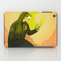 kermit iPad Cases featuring kool kermit by Kingu Omega
