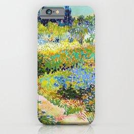 Vincent van Gogh - Garden At Arles, Flowering Garden With Path - Digital Remastered Edition iPhone Case