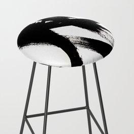 Brushstroke 2 - simple black and white Bar Stool