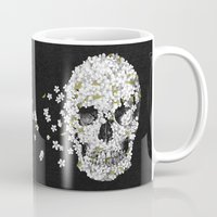 death Mugs featuring A Beautiful Death - mono by Terry Fan