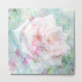 Triangle Rose Metal Print