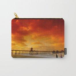 Morning Beach Walk Huntington Beach Pier Carry-All Pouch