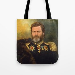 Nick Offerman Classical Painting Photoshop Tote Bag