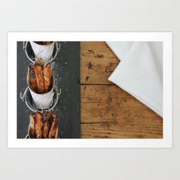 Sweet Potato Fries Kitchen Art Art Print