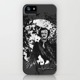 Unlikely Meeting in The Moonlight with Mr Edgar Allan Poe iPhone Case
