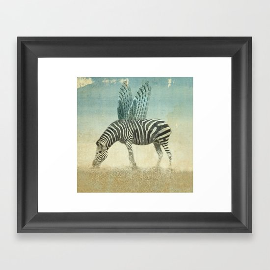 on the wings Framed Art Print