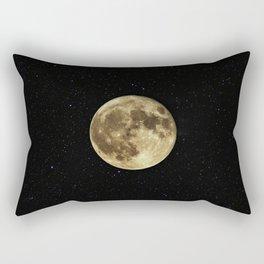 MOON - SKY - STARS - GALAXY - SPACE - PHOTOGRAPHY Rectangular Pillow