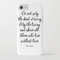 dumbledore iPhone & iPod Cases featuring HARRY POTTER // ALBUS DUMBLEDORE II by Brittney Weidemann