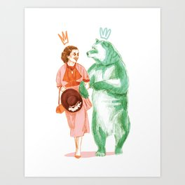 Bestial love Art Print
