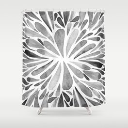 Symmetric drops - black and white Shower Curtain