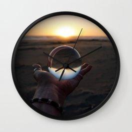 Beach Ball of Glass Wall Clock