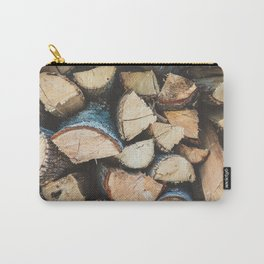 Wood / Photography Print / Photography / Color Photography Carry-All Pouch