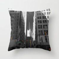 detroit Throw Pillows featuring Detroit  by Galaxys_Limit