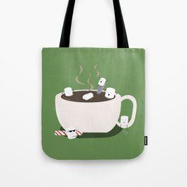 Marshmallow Hot Tub Tote Bag