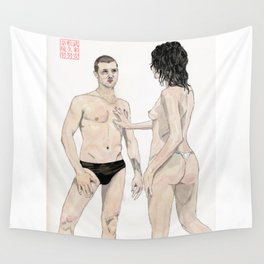 Swimmers #1 Wall Tapestry