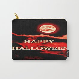 Happy Halloween Red Moon Carry-All Pouch
