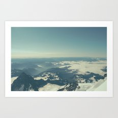 Amidst the Summit - Mt. Rainier Art Print