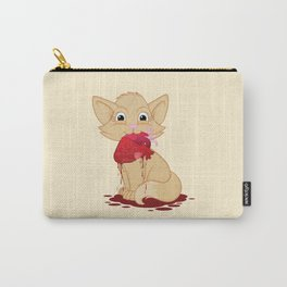 Cat with Heart Carry-All Pouch