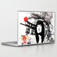subaru Laptop & iPad Skins featuring Japanese Geisha Warrior by viva la revolucion