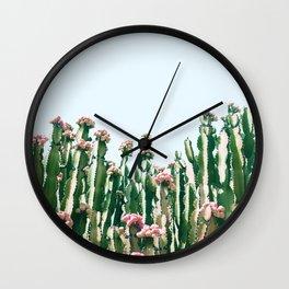 Blush Cactus #society6 #decor #buyart Wall Clock
