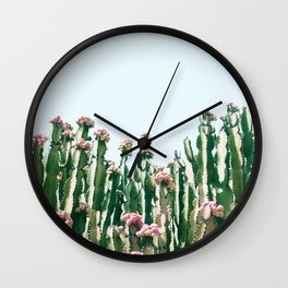 Blush Cactus #society6 #decor #buyart Wall Clock