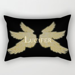 Lucifer with Wings Light Rectangular Pillow