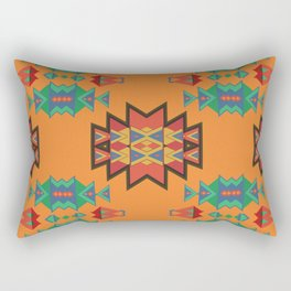 Misc shapes on an orange background Rectangular Pillow