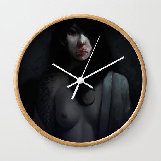Portrait of Ikuko's Ghost Wall Clock