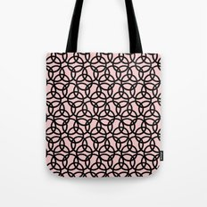 Olympica Black on Blush Tote Bag