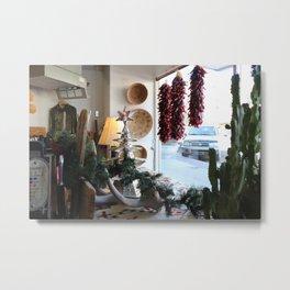 Christmastime Cacti Metal Print