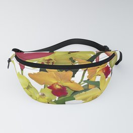Orchids - Hot Colors! On white Fanny Pack